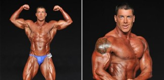 Pension rules allow former NYPD cop Derek Huebner to collect city disability cash even though he's now a bodybuilder. A bad shoulder forced him to retire in the 1990s.