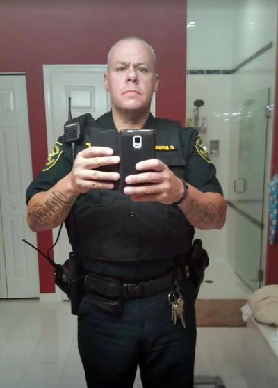Christopher DePaolis is another retired NYPD cop collecting disability pension. He's now a cop in Florida.