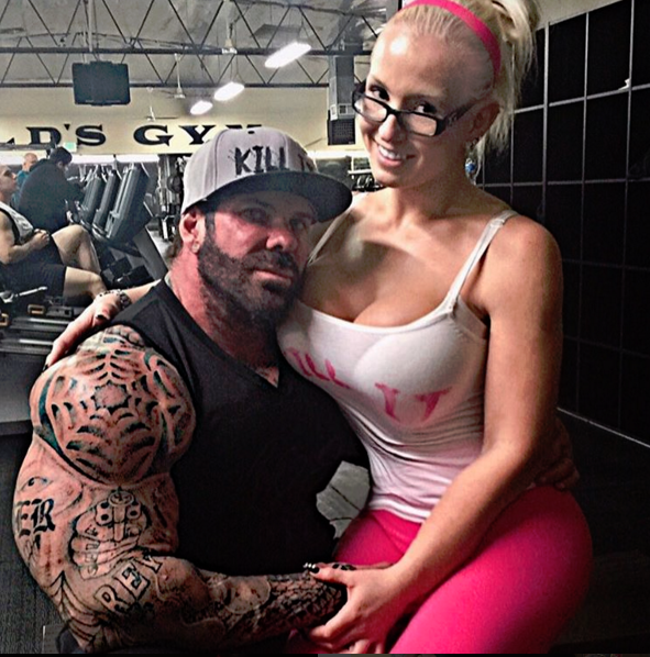 rich piana with wife