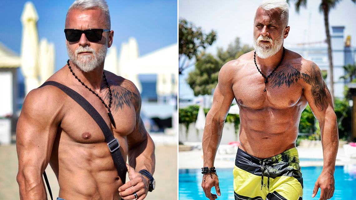 Polish viking trying to look like a 70-year-old man in peak condition